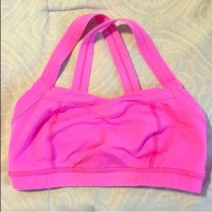 lululemon Hot Pink Sports Bra Size XS/4
